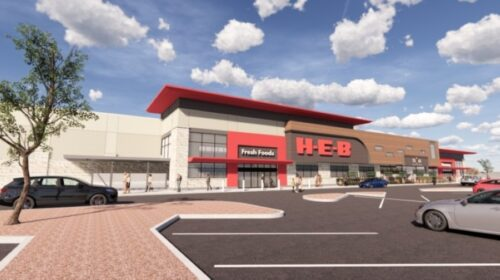 H-E-B will open a new location in the Oak Hill neighborhood of Southwest Austin in August. (Rendering courtesy H-E-B)